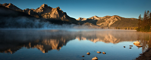 First Light at Stanley Lake 2
