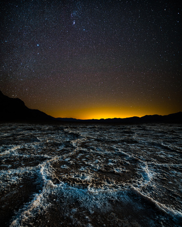 Bad Water at Death Valley At Night