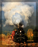 Steam Train at Sumpter Valley Railroad - Sumpter, Oregon